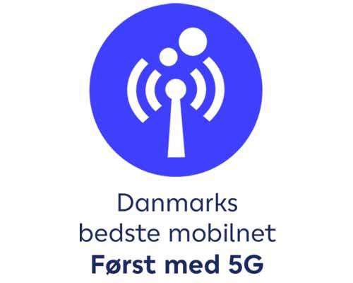Danmarks bedste mobilnet. Først med 5G.