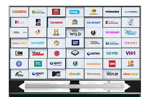 Et kæmpe udvalg af tv-kanaler